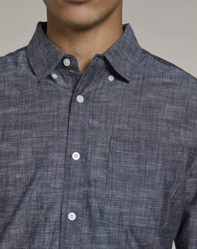 BELLFIELD MARMONT CHAMBRAY MENS SHIRT | NAVY