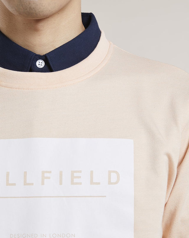 BELLFIELD MAXWELL BRANDED MENS SWEATSHIRT | DUSTY PINK