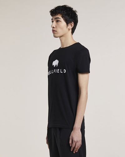 BELLFIELD MOORHEAD BRAND CARRIER MENS T-SHIRT | BLACK