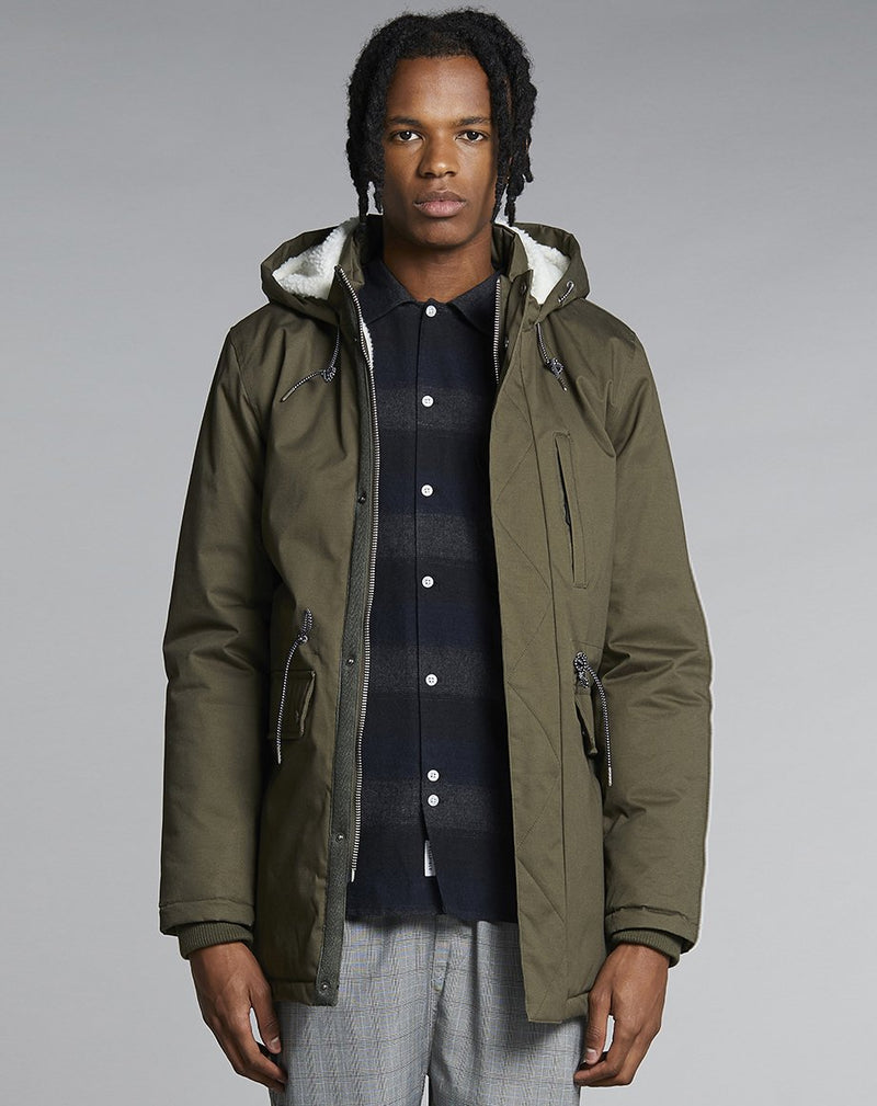 BELLFIELD MOULDER LINED MENS PARKA JACKET | KHAKI