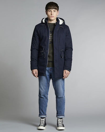 BELLFIELD MOULDER LINED MENS PARKA JACKET | NAVY