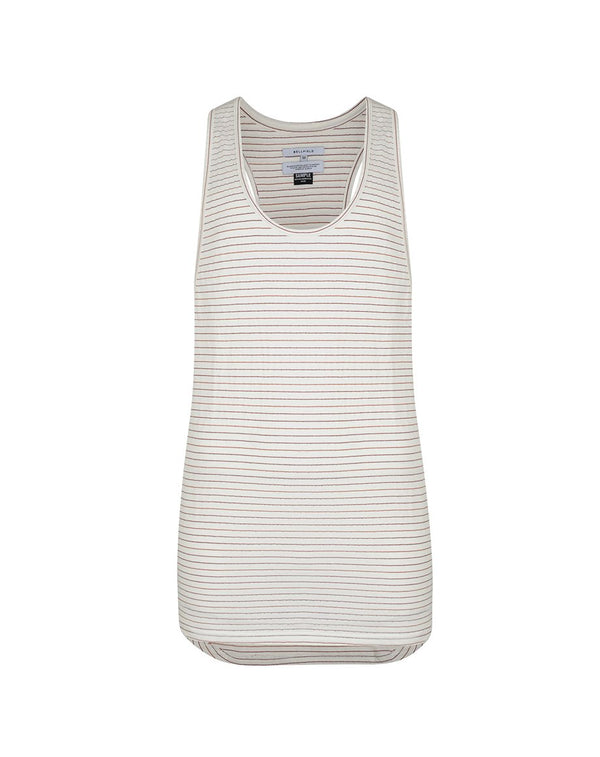 BELLFIELD NAMBO MEN'S VEST | WHITE STRIPED