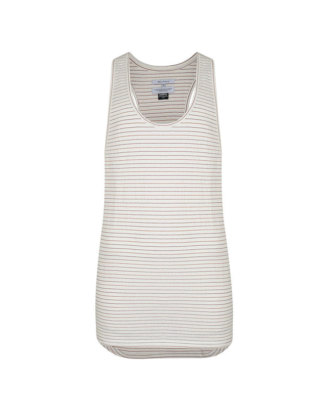 BELLFIELD NAMBO MENS VEST | WHITE STRIPED