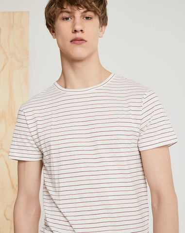 BELLFIELD NAMBOUR MENS T-SHIRT | WHITE STRIPED