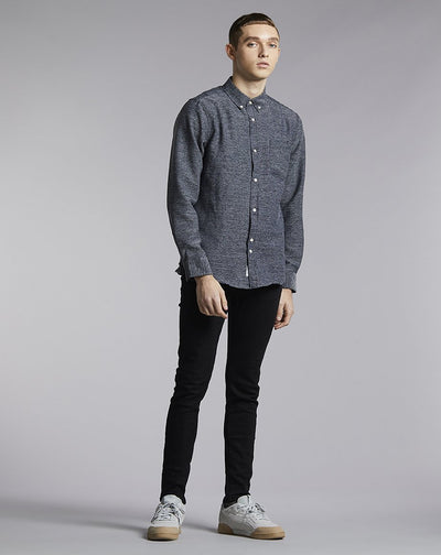 BELLFIELD NICO TEXTURED MENS SHIRT | NAVY