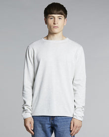 BELLFIELD NILES FINE KNIT MENS JUMPER | GREY MARL