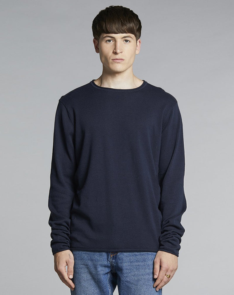 BELLFIELD NILES FINE KNIT MENS JUMPER | NAVY