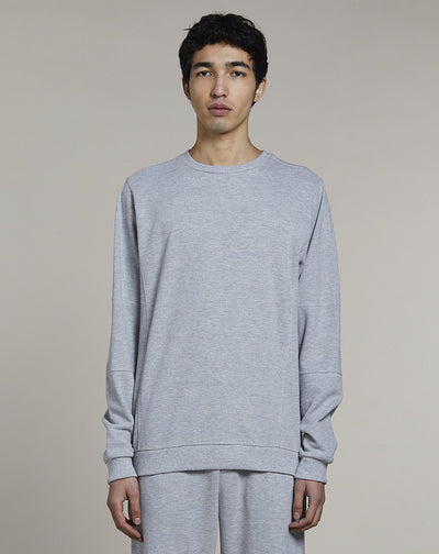 BELLFIELD NOBA CREW NECK MENS SWEATSHIRT | GREY MARL