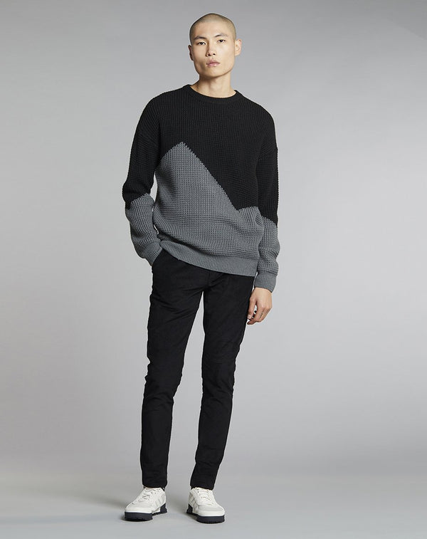 BELLFIELD NONNI BLOCK COLOUR MENS JUMPER | BLACK