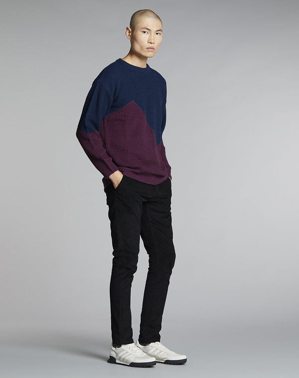 BELLFIELD NONNI BLOCK COLOUR MENS JUMPER | NAVY