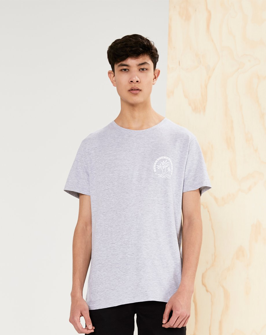 BELLFIELD OKINAWA MENS T-SHIRT | GREY