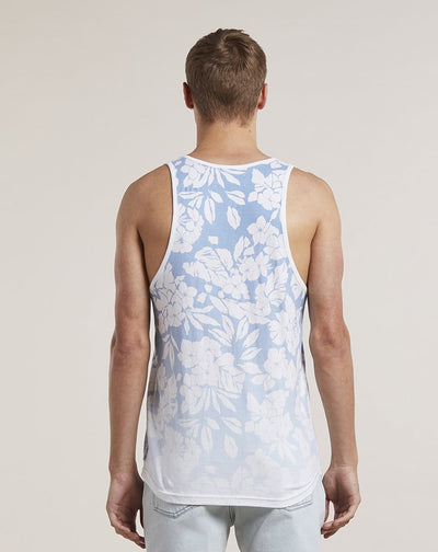 BELLFIELD ORVAR PRINTED MENS VEST | BLUE
