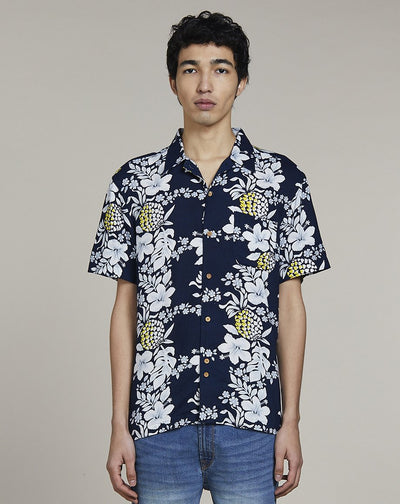 BELLFIELD PANAMA MENS SHIRT | NAVY