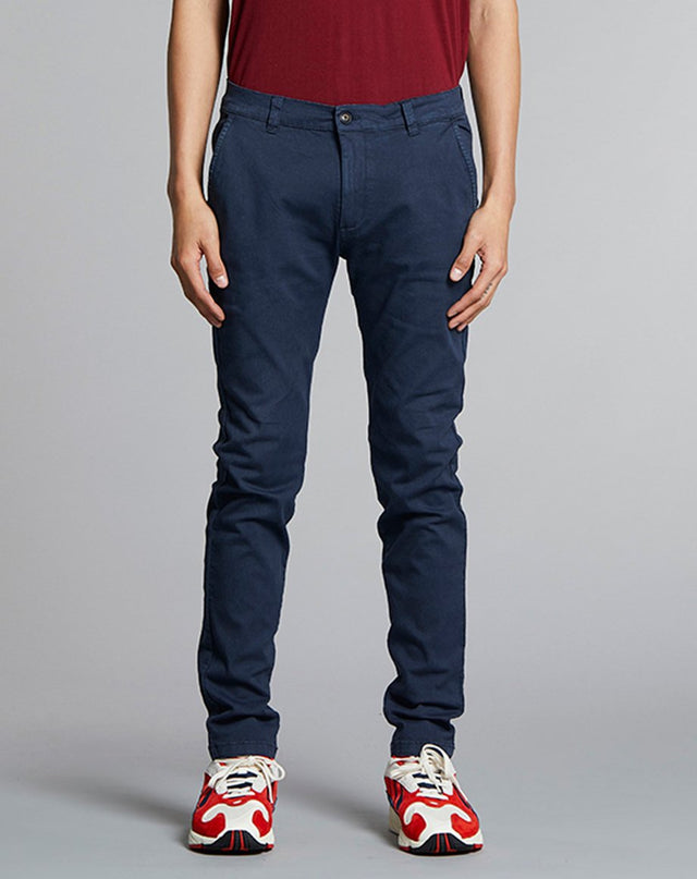 BELLFIELD PATRON BASIC STRETCH MENS CHINOS | NAVY