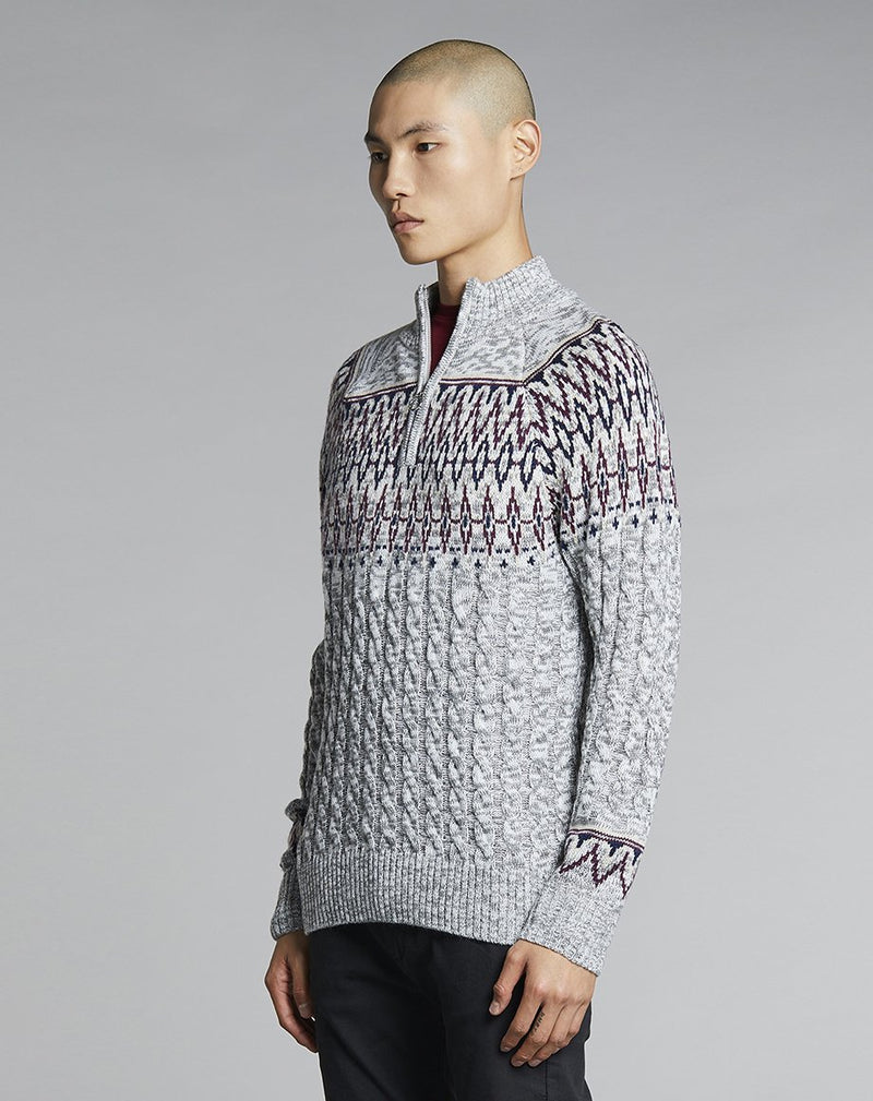 BELLFIELD PATTI HALF ZIP MENS JUMPER | GREY