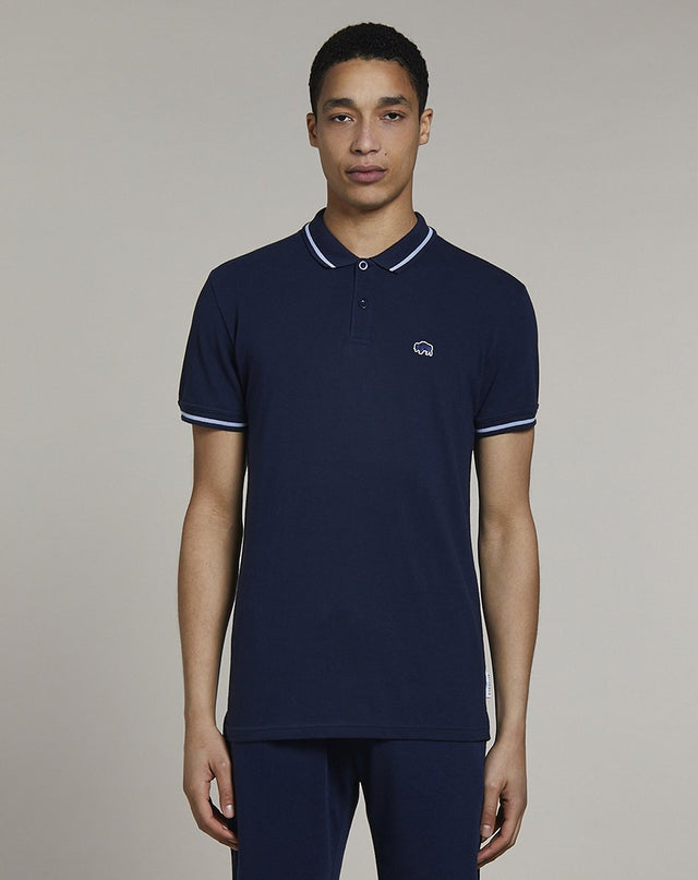 BELLFIELD PINE SHORT SLEEVE MENS POLO SHIRT | NAVY