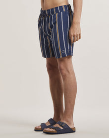 BELLFIELD PRETO STRIPED MEN'S SWIM SHORTS | NAVY