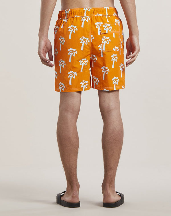 BELLFIELD PULCO PALM PRINT MEN'S SWIM SHORTS SHORTS | ORANGE