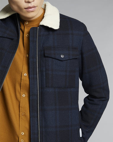 BELLFIELD RICO BOMBER MENS JACKET | NAVY
