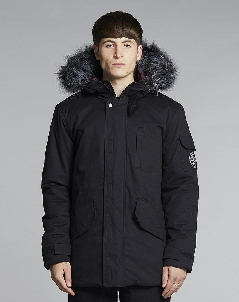 BELLFIELD TETHRA MENS PARKA COAT | BLACK