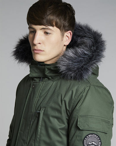 BELLFIELD TETHRA MENS PARKA COAT | FOREST GREEN