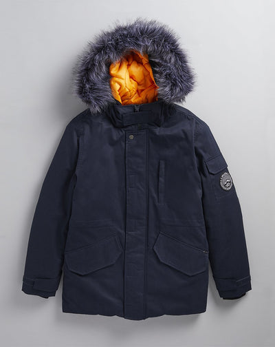 BELLFIELD TETHRA MENS PARKA COAT | NAVY