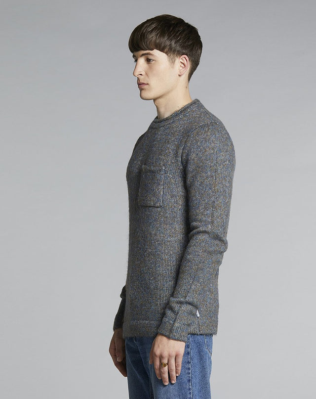 BELLFIELD TOTI POCKET MENS JUMPER | GREY