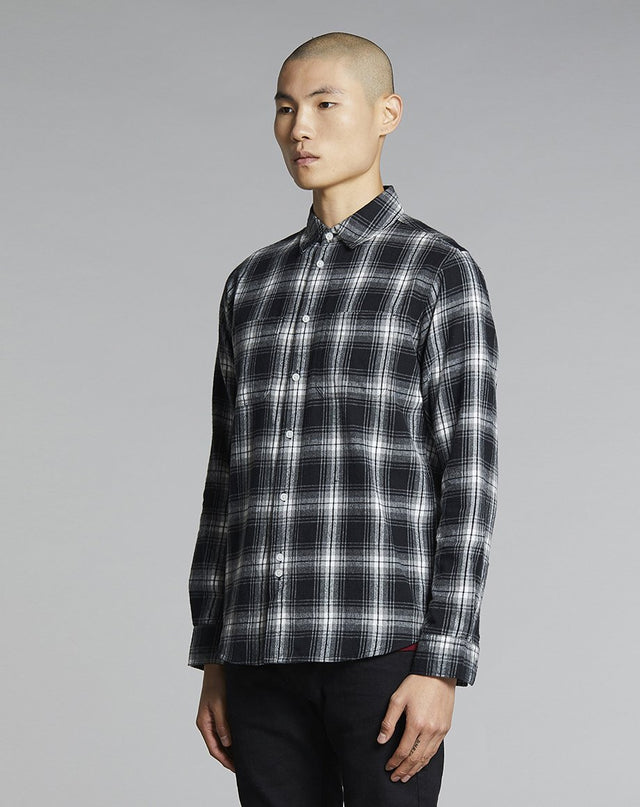 BELLFIELD VALLEGRANDE FLANNEL MENS SHIRT | BLACK