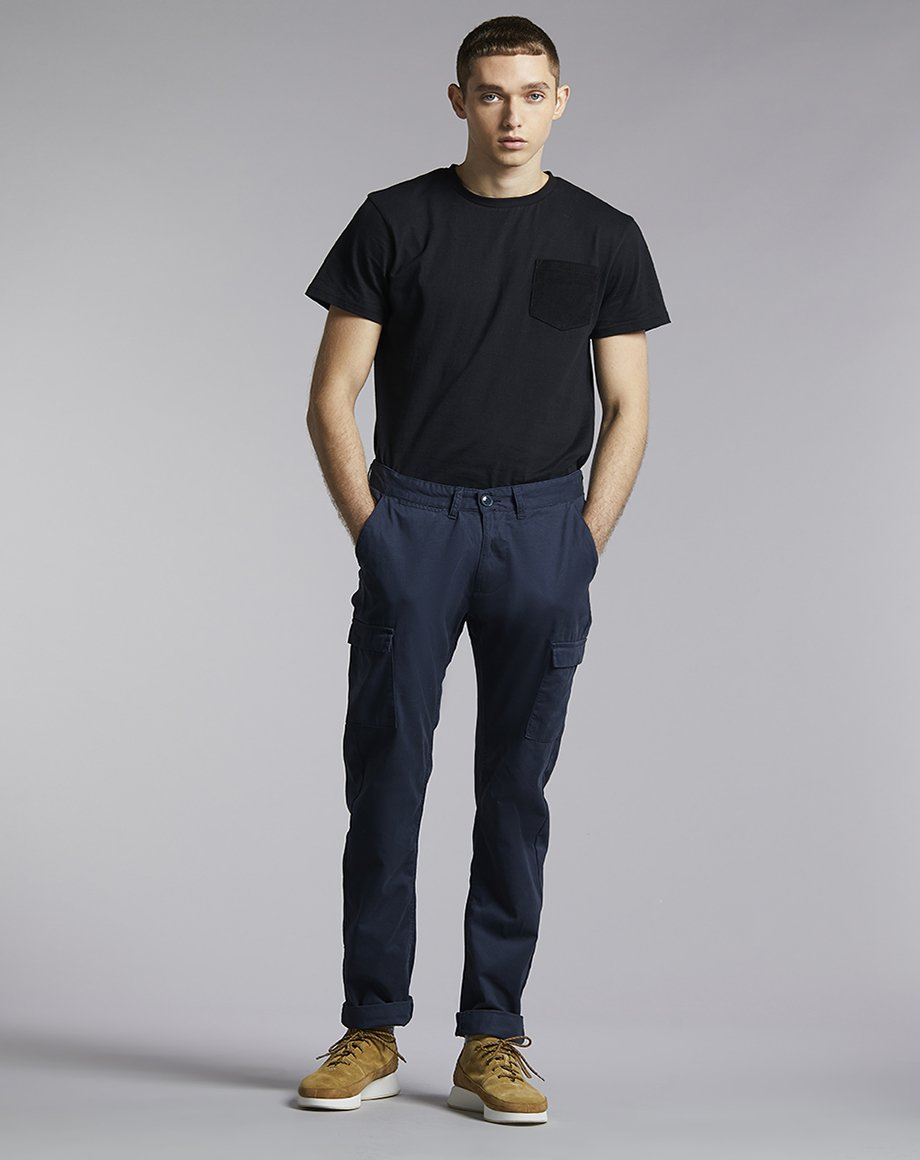 BELLFIELD WILLZA CARGO MENS TROUSERS | NAVY