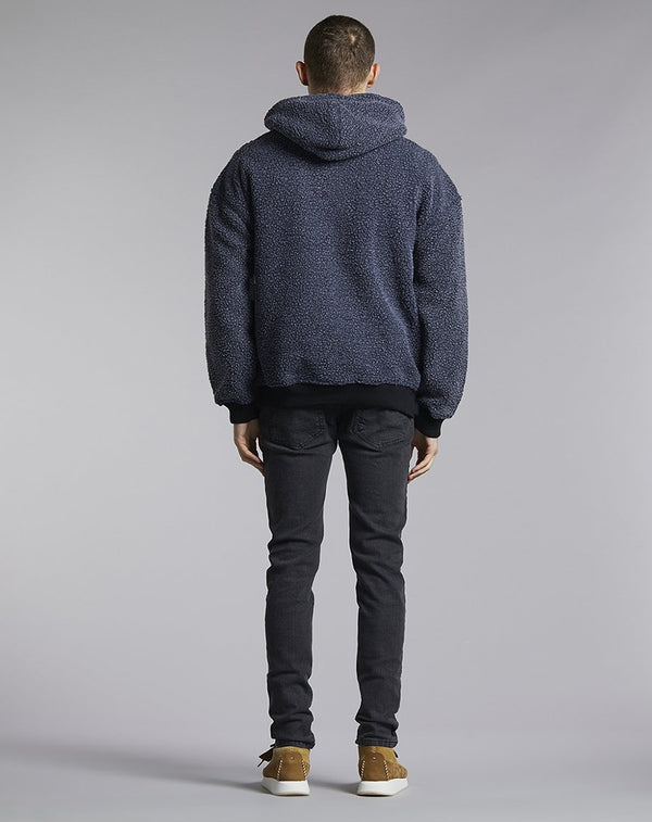 Mens BELLFIELD WOOLFENDEN POLAR FLEECE MENS HOODIE | CHARCOAL (Sweats) - Bellfield Clothing