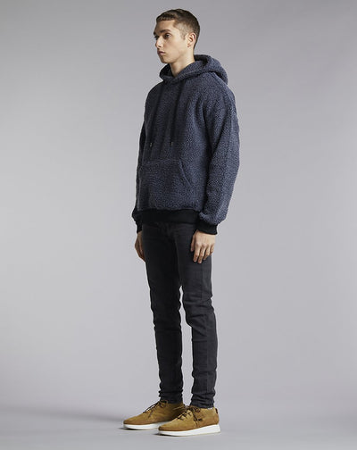 BELLFIELD WOOLFENDEN POLAR FLEECE MENS HOODIE | CHARCOAL