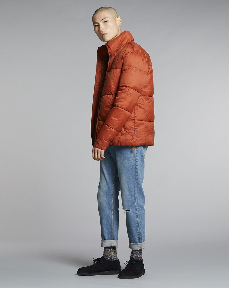 Mens BELLFIELD YOCTO PUFFER MENS JACKET | RUST (Jackets) - Bellfield Clothing