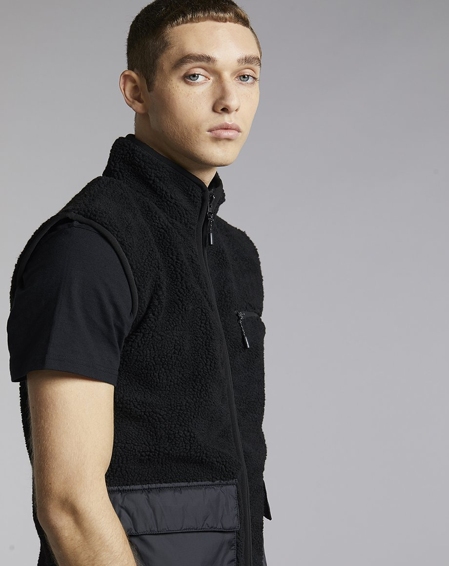 Mens BELLFIELD YUBA BOURG MENS GILET | BLACK (Jackets) - Bellfield Clothing