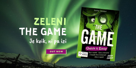 zeleni the game quick easy slovenska izdaja igra s kartami Pravi Junak Adria Edition