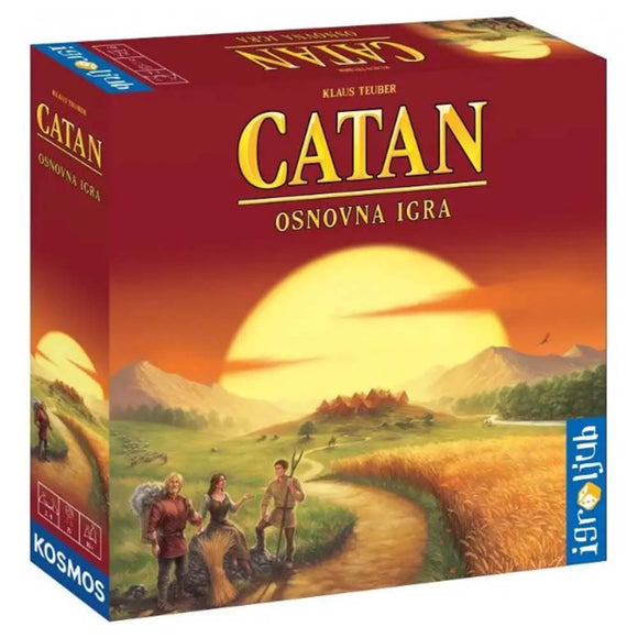 Družabna igra Catan board game box pravi junak