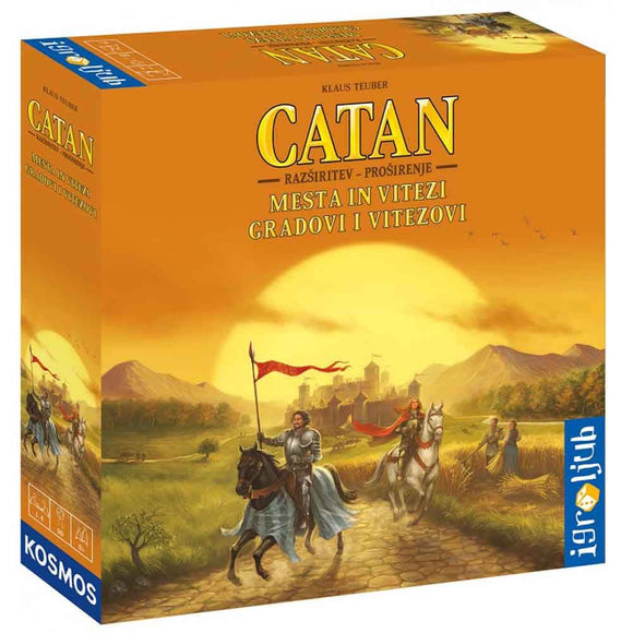 družabna igra catan mesta in vitezi box board game pravi junak
