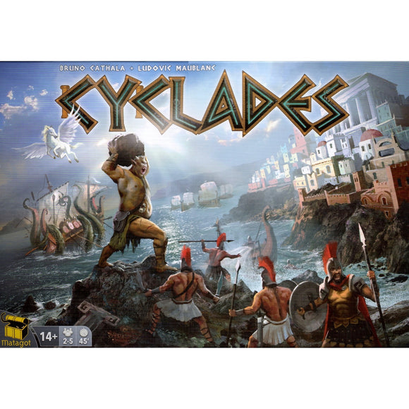 Družabna igra Cyclades Board Game Cover Pravi Junak