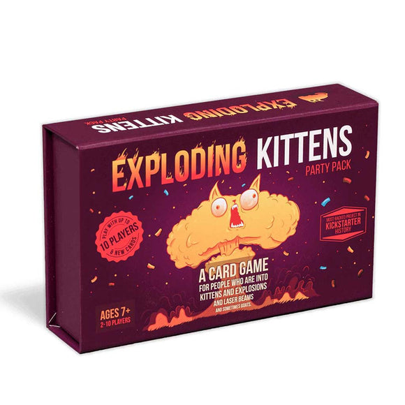 exploding kittens party pack škatla naslovnica 3d box cover card game