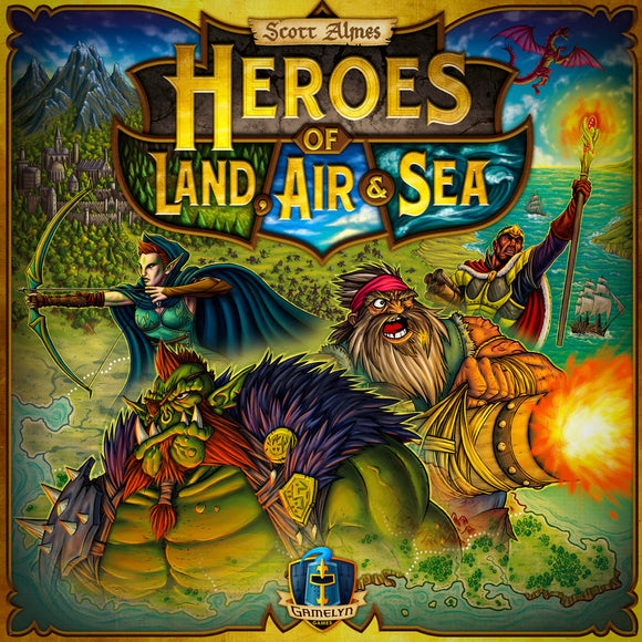 Heroes of Land Air & Sea Družabna igra Board Game Cover