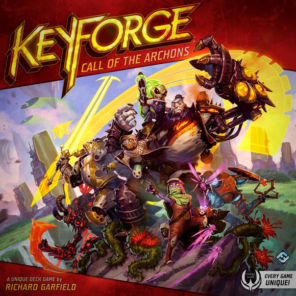 Družabna igra KeyForge: Call of the Archons - Starter Set Board Game Cover Pravi Junak