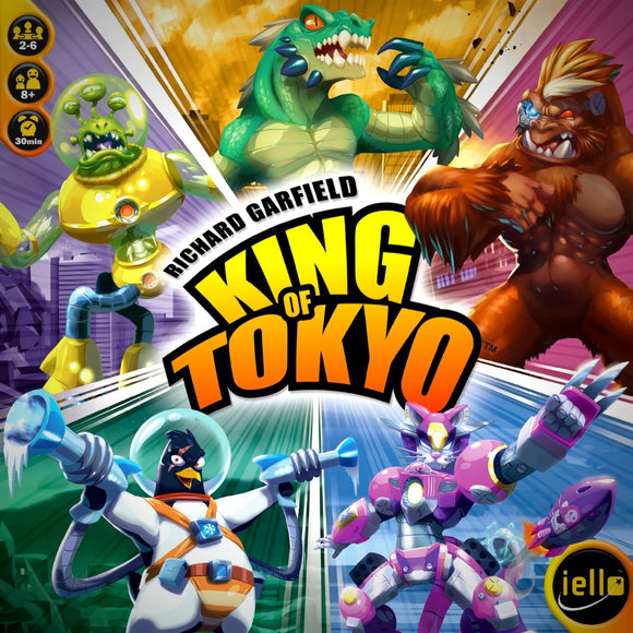 Družabna igra King of Tokyo Edition 2016 Board Game Cover Pravi Junak