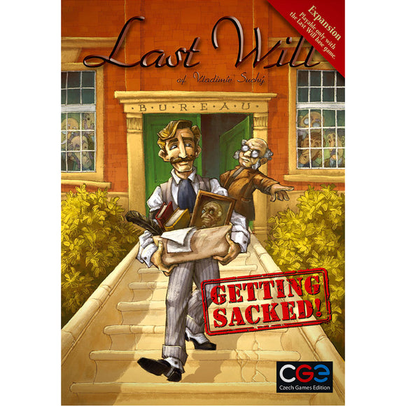 Last Will Getting Sacked Družabna Igra Board Game Cover