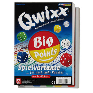 Družabna igra s kockami Qwixx Big Points Board Game Cover Pravi Junak