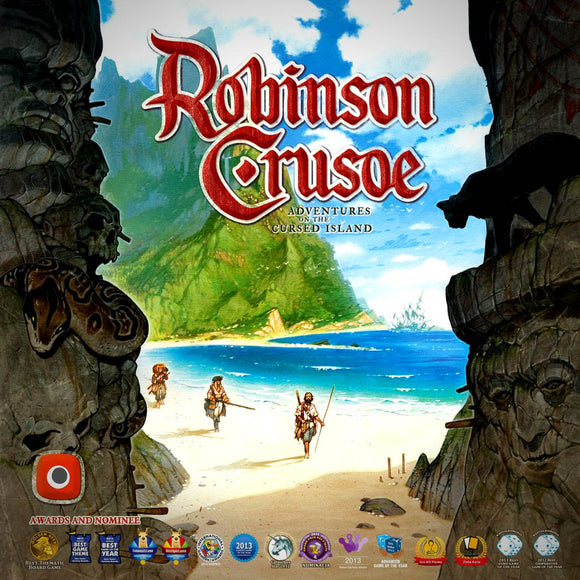 Robinson Crusoe Adventures on the Cursed Islan Družabna igra Board Game Cover