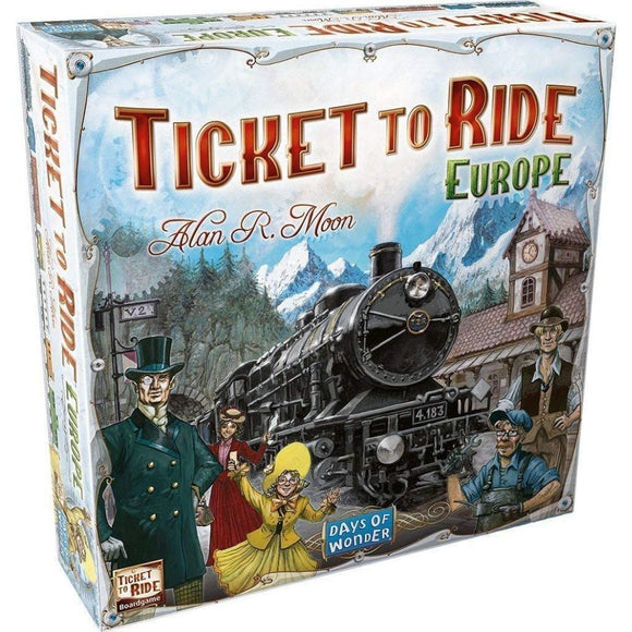 družabna igra ticket to ride europe slovenska izdaja škatla naslovnica box cover board game