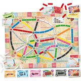 družabna igra ticket to ride london zemljevid map board game