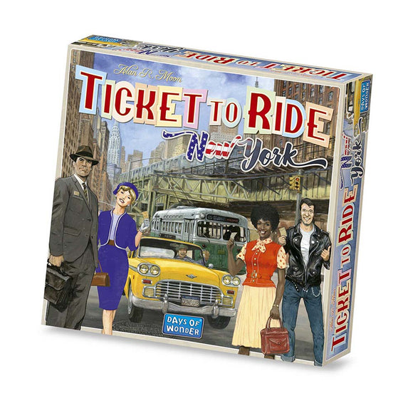 družabna igra ticket to ride new york škatla naslovnica box cover board game