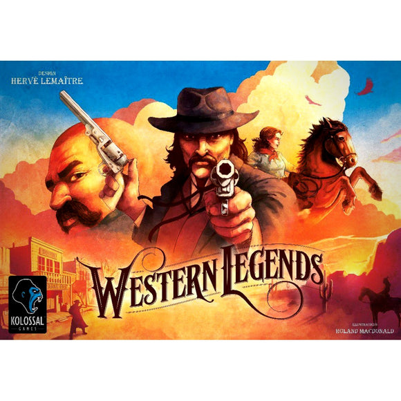 Družabna igra Western Legends Board Game Cover Pravi Junak