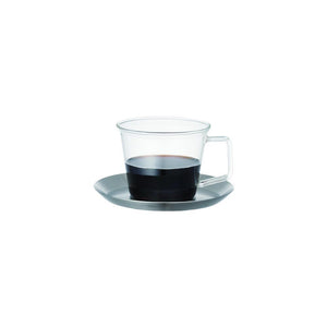 23085 - CAST coffee cup & saucer stainless steel