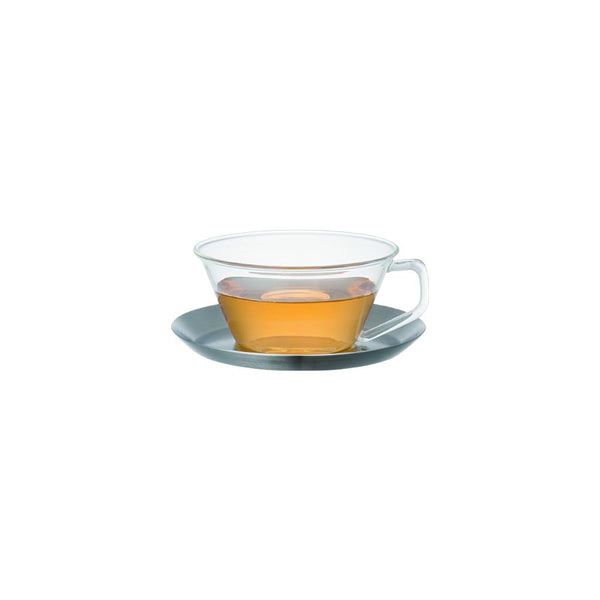 23086 - CAST tea cup & saucer stainless steel